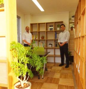 木の優しさ感じられる相談スペースに生まれ変わった澤口税務会計事務所