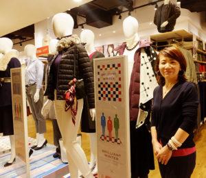 リーダー的存在の霧生(きりゅう)由佳さんは地元新吉田育ち・在住。実家は高田でクリーニング店を営んでおり「小さな頃から洋服やファッションが大好きでした」と、この仕事で好きな洋服に囲まれ、夢が叶ったと語る