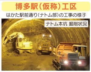 事故が起きた地下付近での工事の様子(福岡市交通局のパンフレットより)