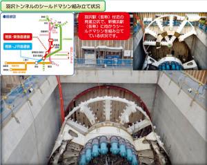 羽沢トンネル(羽沢~新横浜)におけるシールドトンネル掘削の様子(「神奈川東部方面線だより」第4号より)