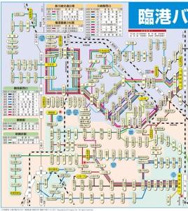 川崎駅・鶴見駅の西側を走る全路線図(公式サイトより)