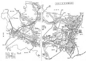 1969(昭和44)年10月までの巨大な港北区(横浜市立図書館デジタルアーカイブより)