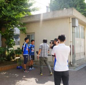 当日の模様はtvk(テレビ神奈川)のニュースでも放映された(日吉台小学校)