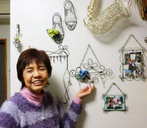 「M工房」オーナーの小泉美菜さん。自身もワイヤークラフト作品を発表していることもあり「初心者の方にぜひハンドメイド作家としてデビューしてもらいたい」との想いを熱く語る