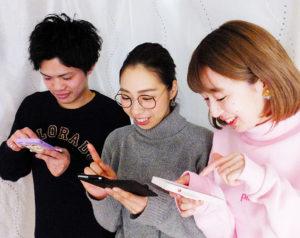 現役美容師たちが挑戦する「インスタ映え」のコツとは。ACTグループで活躍する3人に話を聞いた。写真左から平安座育海(へいあんざいくみ)さん、Saki(サキ)さん、石川晃子さん