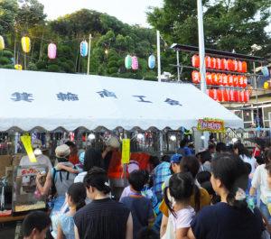 飯山さんが会長を務める箕輪町商工会は、箕輪町・諏訪神社の例大祭など、地域活動にも積極的に参加している(2017年7月21日)