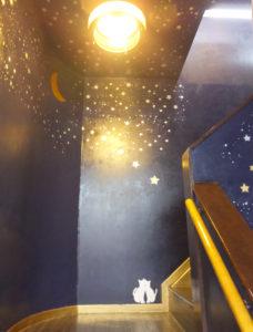 「星の道」は、同店のエントランス階段付近の若宮さんによるイラストがモチーフになっているという