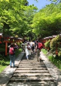 2016年5月に行われた、京都・鞍馬山での座禅メディテーション当日は好天に恵まれた。黒須さんの出張が多いため、「地元(下田町)での活動は知らなかった」との声も多く寄せられたという(2016年5月14日、黒須悟士さん撮影)