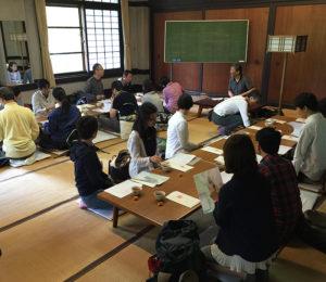 初めての京都での一人暮らしで初訪問した先が鞍馬寺だったという偶然。ビジネスパーソン向けの宗教教養講座としての「座禅座禅メディテーション」開催の様子(2016年5月14日、黒須悟士さん撮影)
