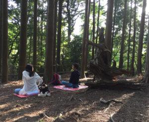 京都らしい「歴史と伝統」と自然の息遣いの中、座禅で新たな価値観を発見し、下田町での日々に活かす(2016年5月14日、鞍馬寺にて黒須悟士さん撮影)