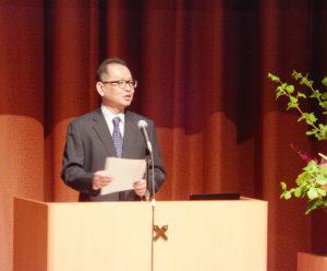 式辞は前野隆司SDM研究科委員長
