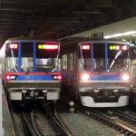 日吉駅での三田線車両