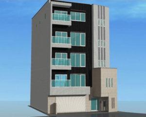 日吉中央通りにある重田酒店(日吉本町1)の裏手に新たに建設中の重田ビル。ACT-ZIPは3階、美容室ACTは4階で来年(2019年)2月中旬にも移転オープン予定(ACTグループ提供)