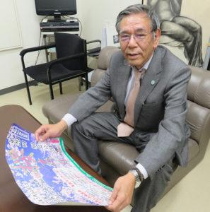 綱島「桜まつり」の創始者で、同イベントの実行委員長を現在も務める中森伸明さん。昨年(2018年)6月からは港北観光協会の会長にも就任している。綱島商店街の事務局(綱島西2)で