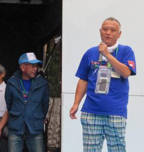 実行委員長の石井茂利さんから開会のあいさつ