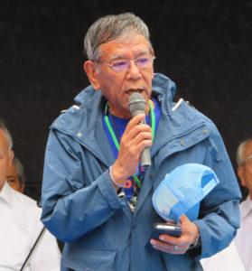 今年(2019年)6月16日に急逝した、綱島一番会の初代会長で、綱島商店街連合会前会長・綱島商店街協同組合元理事長の故・猿渡茂さんへの追悼の言葉が、大会会長の中森伸明さんから述べられました