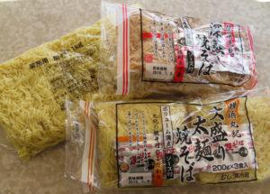 横浜のイメージからか、焼きそばの売り上げが伸びているとのこと。地元スーパーで丸紀の商品を購入できることも