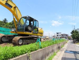 新吉田や樽町、大曽根エリアでの取材機会も増えてきた。来年(2020年)3月末までの一部供用に向けて工事が進められている都市計画道路「宮内新横浜線」の建設状況も気になるところ(2019年6月、新吉田東3丁目付近)