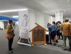 綱島にもゆかりが深い、日吉出身で神奈川県では唯一の横綱となった武蔵山(1909~1969)に関する展示が、横浜アリーナ場所でも注目を集めた(2019年4月27日)