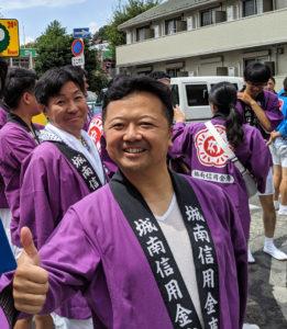 綱島の街の行事にも積極的に参加している(2019年8月開催の綱島諏訪神社例大祭、神奈川法人会綱島東支部提供)
