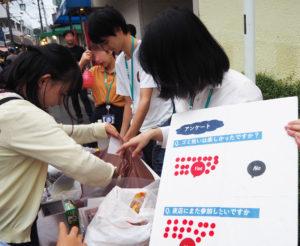 慶應SDM研究科により(2019年)7月6日に行われた「子ども向けゴミ拾いプロジェクト」では、ゴミ拾いや夜店の楽しさに対する反響が大きかったものの、ゴミの量についても驚きの声が上がっていたという