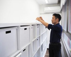 より手軽に通塾できるようにと設置している生徒一人ひとりに与えられるボックス棚も、数が足りなくなった。増床に向けての準備も少しずつ進めている