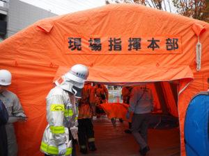 現場指揮本部も設置、負傷者が順次搬送されました