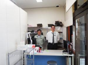 オフィスのレイアウトをこのほど一新。修理スペースも内部に拡張することになった