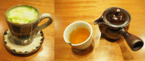 日吉店では、カフェタイムも「和」をアレンジしたドリンクやスイーツで楽しめる