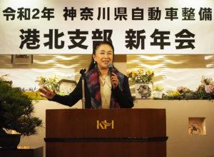 新横浜周辺で生まれ育ったという女優で横浜夢座座長の五大路子さんが講演。「篠原城(城址)」を舞台とした「まぼろしの篠原城~語りの楽劇」を港北公会堂で演じたエピソードについても披露(1月23日、新横浜国際ホテル)