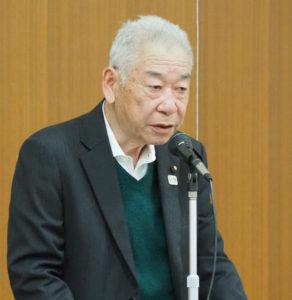 大曽根自治連合会の高橋静明会長は、2018(平成30)年度の申請で防犯カメラを3台設置した経緯を報告
