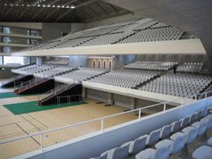 固定座席は旧記念館時代より倍以上増えて4560席に。アリーナに椅子を配置すれば、固定席と合わせて約1万席を設置できるようになった