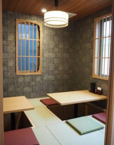 2階には初挑戦となる個室風の座敷席(6席)も設置