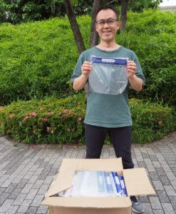 中国ビジネスのエキスパート・竹居直人さんとタッグを組み、医療物資の直輸入する試みを開始した