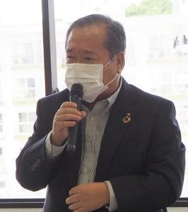 今年度から就任した日吉商店街協同組合(日吉商店街)の熊井理事長