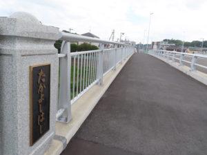 高田から新吉田側を見た高吉(たかよし)橋(6月26日)