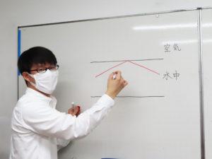 高田・日吉育ちの小野内さんは算数・理科の講師を務めるほか、ひよし塾内で運営する「ロボット教室」と「パズル道場」の講師リーダーとしても日々奮闘している