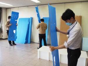小さく畳めるので、場所も取らない。「耐用年数は10年くらいはあるのではないか」と斉藤社長