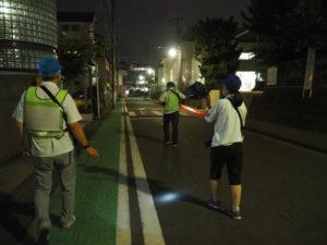 綱島エリアで行われた地域住民による防犯パトロール(8月12日)