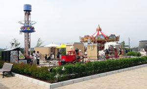 ミニ遊園地「ヒルサイドプレイグラウンド」もオープンした