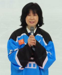 港北区役所から栗田るみ区長が来場し開幕の祝辞を述べていた(10月18日)