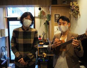 「ギター・ウクレレアカデミー」の開講は、早川さんの音楽の世界観を感じた榎本社長から打診し実現することに