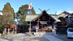 日吉神社(右)と矢上天神社(2020年12月、林宏美さん撮影)