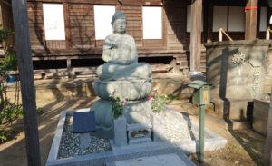 金蔵寺にある釈迦如来坐像(2020年12月、林宏美さん撮影)