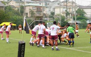 オーストラリアの大学との国際親善試合が開催されたことも(2019年9月、下田グラウンド)