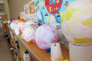 灯籠は全19個製作された。作り方も担当班がインターネットで調べたという