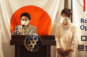 「下田子育て応援会」岩城副代表と滝口さん。新型コロナ禍で思うように活動ができない現状を嘆きながらも、地域の子どもたちのための活動を行っていきたいとの決意を述べていた
