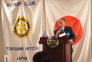 日能研関東の創業者として知られる小嶋勇会長は、1996年の横浜日吉ロータリークラブ創設時以来、2度目の会長職に就き活躍している