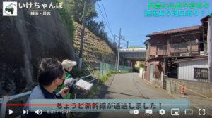 「日吉丸」の鼻のあたりでは、ちょうど新幹線に遭遇(いけちゃんねる【後編】より)