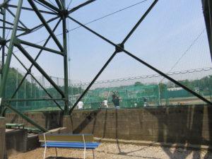 慶應大学野球部は下田町に活動拠点を置いている(日吉グラウンド)
